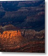 First Light Over Yavapai Point  Grand Canyon Metal Print