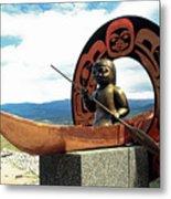 First Nation Sculpture Metal Print