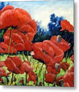 First Of Poppies Metal Print