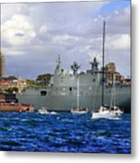 First Peak At Australia's Newest Warship Metal Print