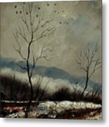 First Snow In Harroy Metal Print
