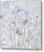 First Snow In The Field Metal Print