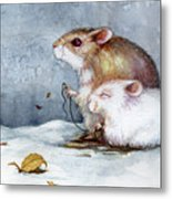 First Snow Metal Print by Janet Chui