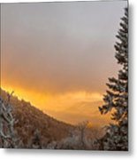 First Snow On The Blue Ridge Parkway. Metal Print