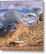 First Snow On The Hills Metal Print