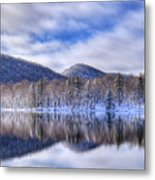 First Snow On West Lake Metal Print