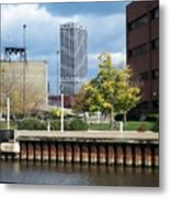 First Star Tall View From River Metal Print