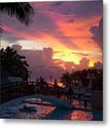 First Sunset In Negril Metal Print