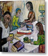 First Supper Metal Print