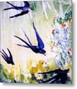 First Swallows Of Summer  Metal Print