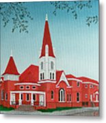 First United Methodist Church  Terrell Tx Metal Print