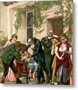First Vaccination, 1796 Metal Print