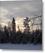 First Winter Sunrise Of 2011 Metal Print