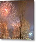Firstnight Fireworks Metal Print