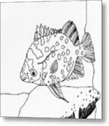 Fish And Rock Metal Print
