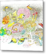 Fish Are Everywhere Metal Print