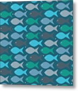 Fish Blue  Metal Print