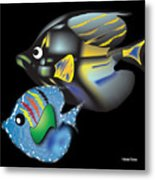 Fish Illustration Metal Print