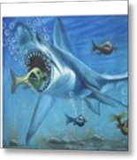 Fish In Action Metal Print