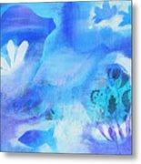 Fish In Blue Metal Print