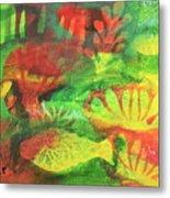 Fish In Green Metal Print