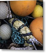 Fish Netting And Floats 0129 Metal Print
