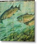 Fish On The Wall 2 Metal Print