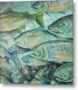 Fish On The Wall Metal Print