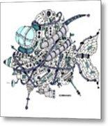 Fish Submarine Metal Print