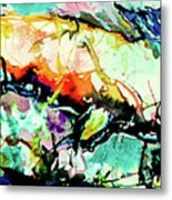 Fish Under Water Metal Print