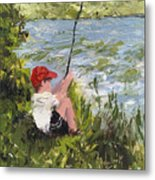 Fisher Boy Metal Print