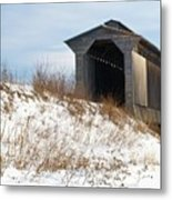 Fisher Covered Railroad Bridge Metal Print