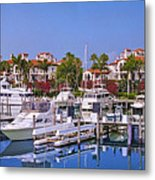 Fisher Island Miami Private Marina Metal Print
