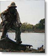 Fisher Statue Metal Print