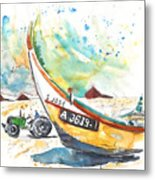 Fisherboat In Praia De Mira Metal Print