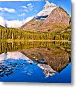 Fishercap Blue Reflections Metal Print