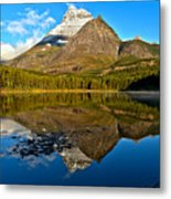 Fishercap Snowcap Reflections Metal Print