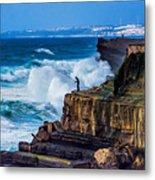 Fisherman And The Sea Metal Print
