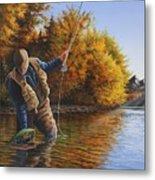 Fisherman Metal Print