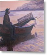 Fisherman At Good Harbor Beach Gloucester Circa 1880 Metal Print