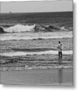 Fisherman - Costa Del Sol - El Salvador Bnw V Metal Print