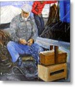 fisherman from Mola di Bari Metal Print