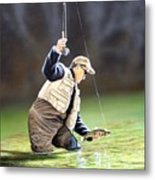 Fisherman II Metal Print