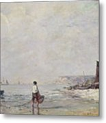 Fisherman In Villerville Metal Print