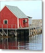 Fishermans House On Peggys Cove Metal Print