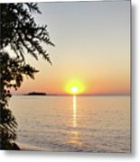 Fisherman's Island Sunset Metal Print