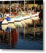 Fisherman's Wharf Marina Visit Www.angeliniphoto.com For More Metal Print by Mary Angelini