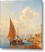 Fishermen On The Dalmatian Coast Metal Print
