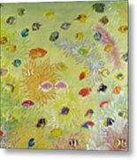 Fishes And Coral Metal Print