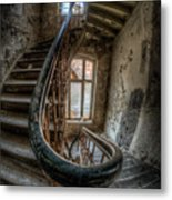 Fisheye Stairs Metal Print